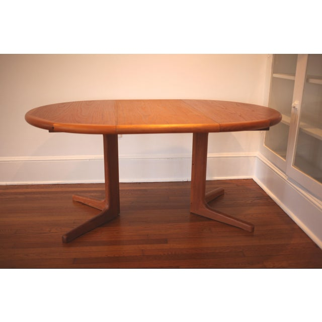 Solid Teak Round to Oval Dining Table - Image 2 of 10