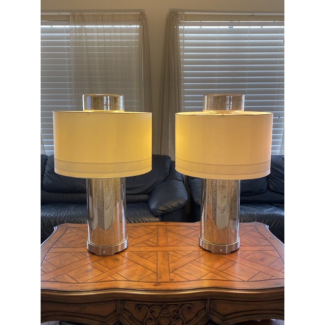 Glass Global Views Lighthouse Lamps - a Pair For Sale - Image 7 of 9