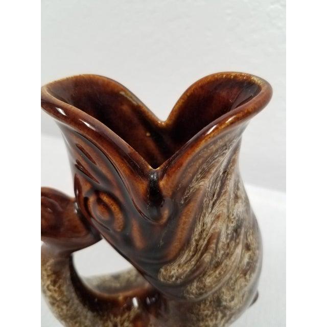 Ceramic Vintage Brown Fosters Studio Pottery Gurgling Jug or Vase For Sale - Image 7 of 10