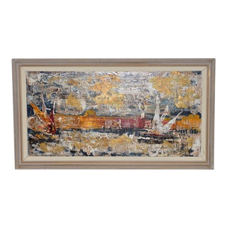 Raymond Dominique Sfax Grand Canal, Venice Oil Painting C.1950 For Sale