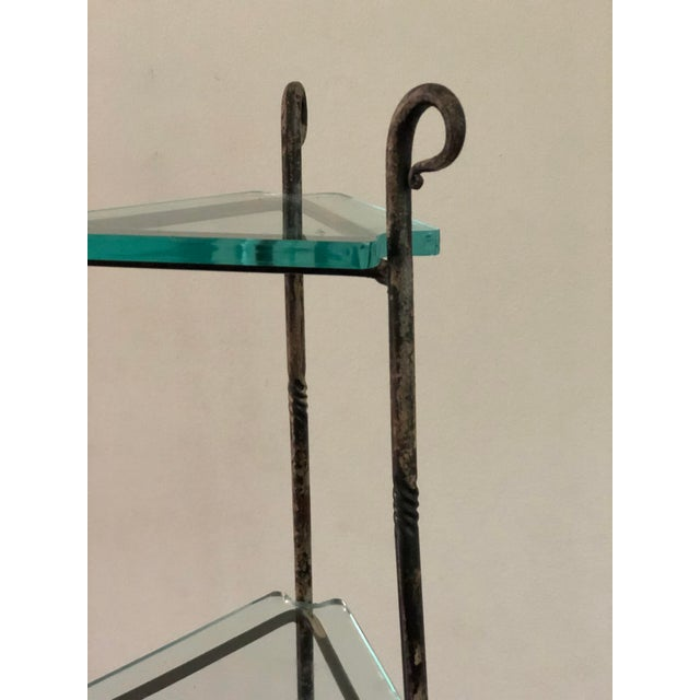 Art Deco French Art Deco Forged Iron Cookware or Plant Stand For Sale - Image 3 of 12
