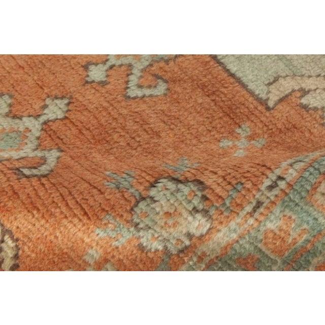 Islamic Antique Turkish Oushak Rug For Sale - Image 3 of 9