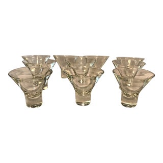 Mid Century Danish Cocktail Coupe - Set of 10 For Sale