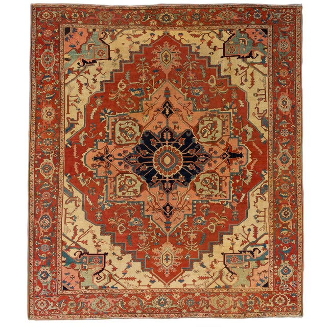 """Transitional Modern Pasargad Home Serapi Lamb's Wool Area Rug- 10' 3"""" X 11' 7"""" For Sale - Image 3 of 3"""