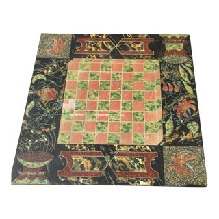 Early 20th Century Antique Chinoiserie Slate Game Board For Sale