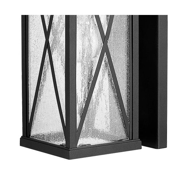 American Morris 1 Light Outdoor Aluminum Wall Sconce, Black For Sale - Image 3 of 4