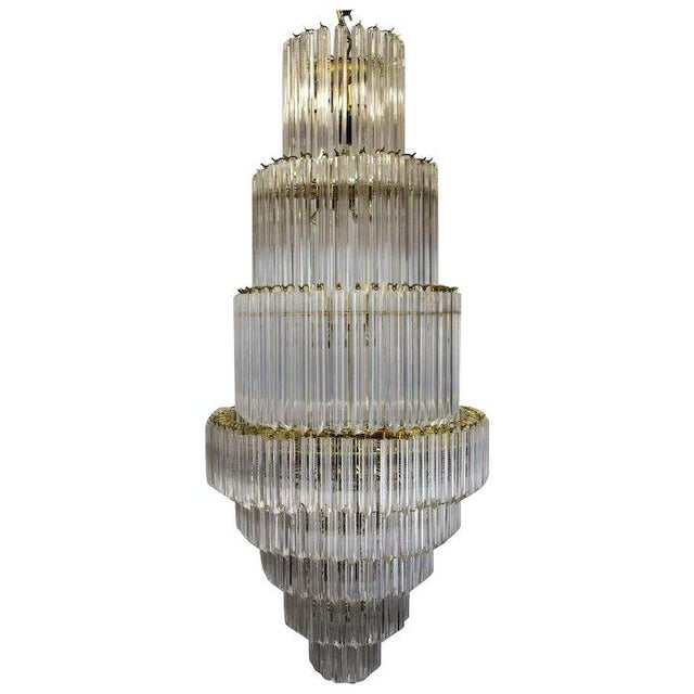 Plastic 1960's Lucite Acrylic Cascading Chandelier from the University of Northern Colorado's Grand Ballroom For Sale - Image 7 of 7