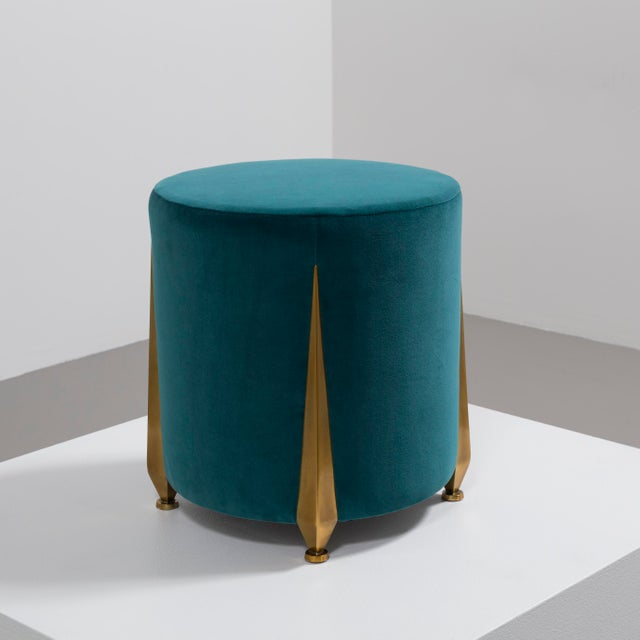 Contemporary The Iris Stool by Talisman Bespoke For Sale - Image 3 of 11
