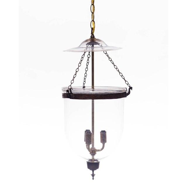 Transparent Vintage Glass Bell Jar Pendant Light For Sale - Image 8 of 8