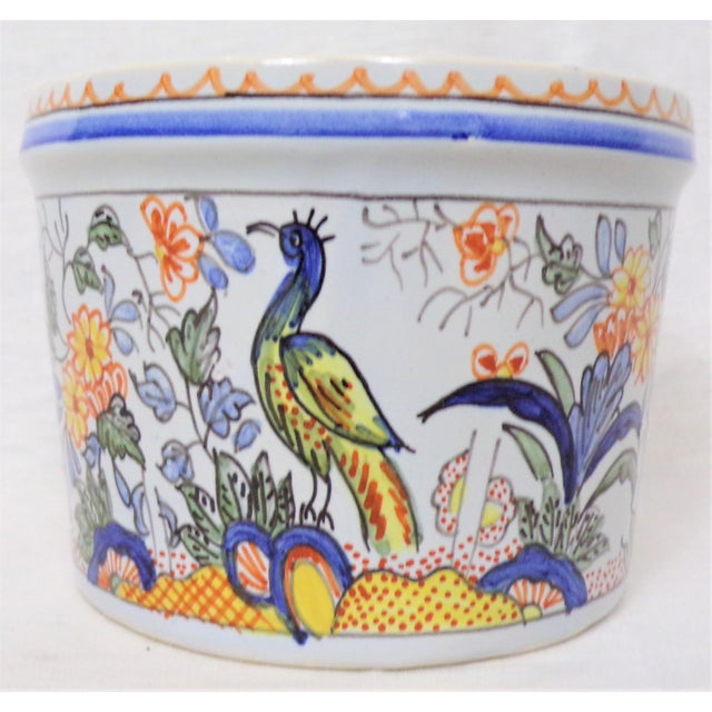 Tiffany and Co. Vintage Tiffany & Co. Majolica Hand Painted Cachepot For Sale - Image 4 of 8