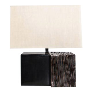 Pleats Double Cube Lamp For Sale