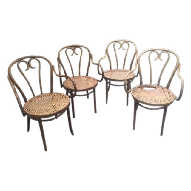 Bentwood Armchairs In The Style of Michael Thonet- Set of 4 - Image 1 of 5