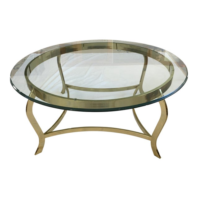 1990s Contemporary Glass Coffee Table