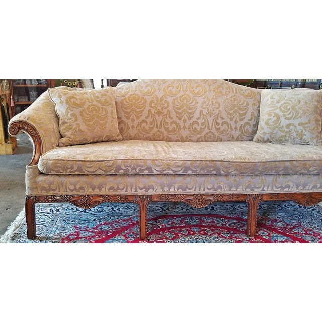 19c Chippendale Style Camel Back Sofa For Sale In Dallas - Image 6 of 12