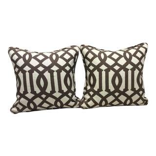 Brown & Neutral Pillows - A Pair