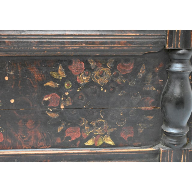 Painted Pine and Oak Trunk or Blanket Chest in Original Paint For Sale - Image 10 of 13