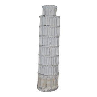Fiberglass Leaning Tower of Pisa Garden or Indoor Sculpture For Sale