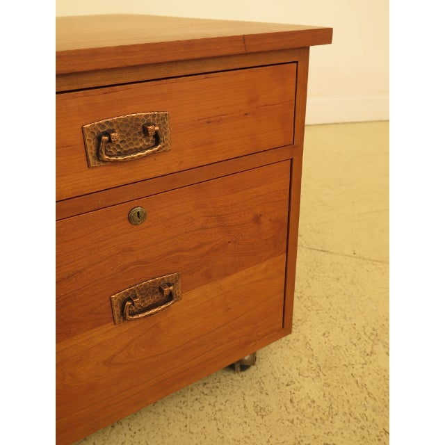 Cherry Wood Stickley Mission Arts & Crafts Style Cherry File Cabinet For Sale - Image 7 of 13