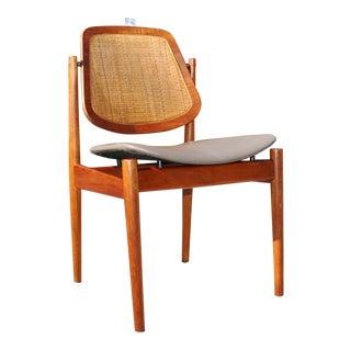 Arne Vodder Cane & Teak Danish Desk Chair For Sale