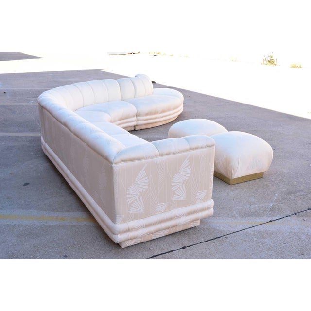 Metal 1970s Vintage Vladimir Kagan Serpentine Sofa For Sale - Image 7 of 10