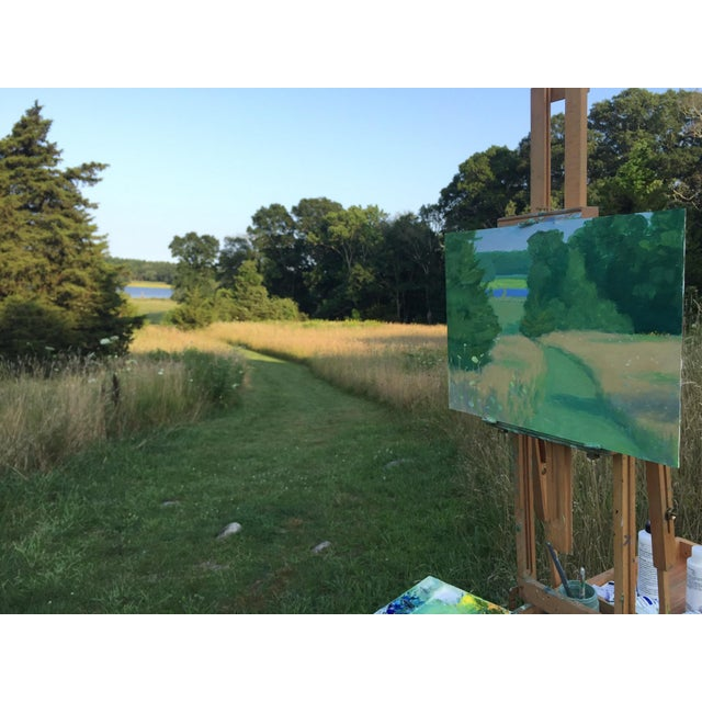 Wood Pastoral Plein Air Contemporary Paintings by Stephen Remick - Set of 3 For Sale - Image 7 of 13