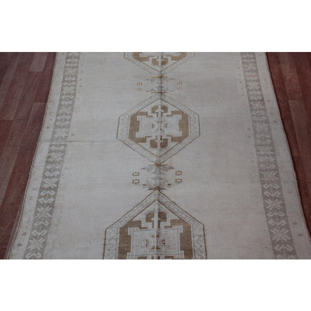 Islamic Vintage Turkish Oushak Rug - 4′4″ × 9′6″ For Sale - Image 3 of 11