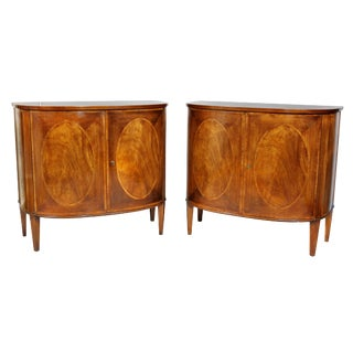 George III Style Mahogany Cabinets - a Pair For Sale