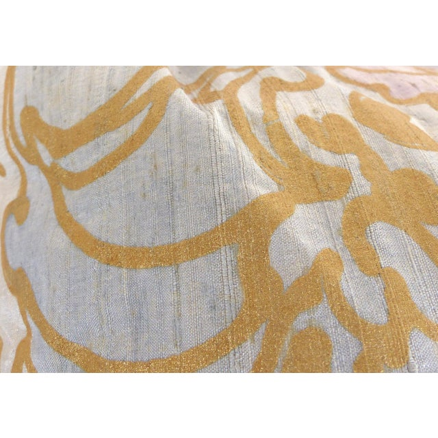 Late 20th Century Barbara Beckmann Hand-Printed Silk Bolster Pillows, Pair For Sale - Image 5 of 9