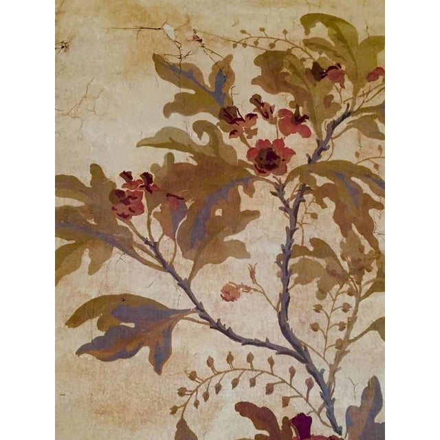 Large Decorative Painted Panel in Gilt Frame For Sale In New Orleans - Image 6 of 7