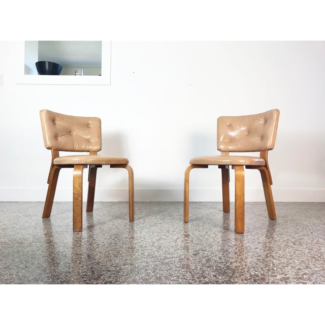 Early Alvar Aalto Model 62 Upholstered Chairs - a Pair For Sale - Image 11 of 13