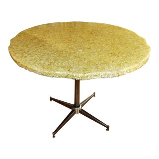 Mid-Century Modern Oyster Shell & Resin Cafe Table