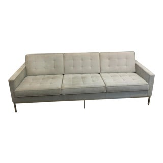 Mid Century Modern Florence Knoll Boucle Sofa For Sale