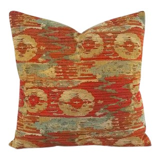 Pindler Palette Persimmon Chenille Pillow Cover For Sale