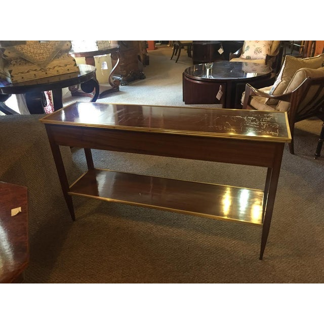 Two Drawer Bronze Mounted Console Tables - Pair - Image 4 of 8