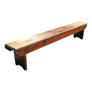 1920s Vintage Industrial Factory Bench For Sale