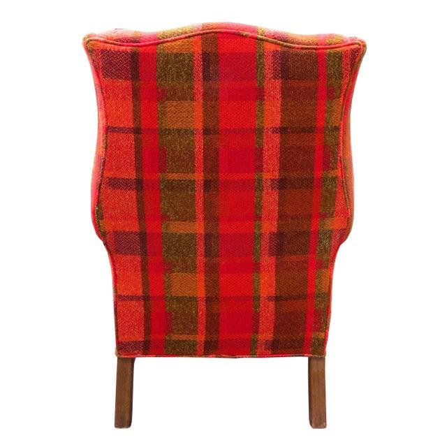 Wood Vintage Mid-Century Flexsteel Georgian Style Wingback Chair For Sale - Image 7 of 13