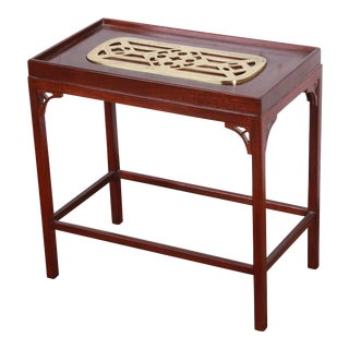Baker Furniture Historic Charleston Collection Mahogany and Brass Occasional Table For Sale