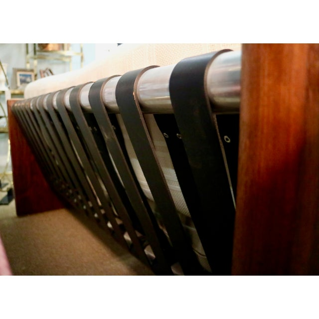 Milo Baughman Milo Baughman Sling Sofa in Rosewood For Sale - Image 4 of 6