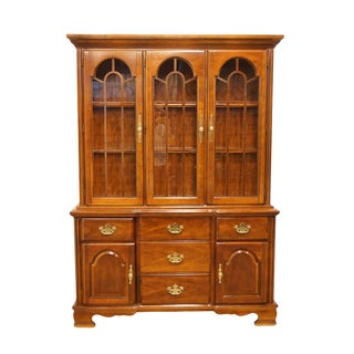 "High End Solid Cherry Traditional Style 56"" Buffet W. China Cabinet 4012-350 / 4012-323 For Sale"