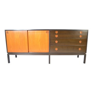 Mid Century Harvey Probber Teak and Mahogany Credenza For Sale