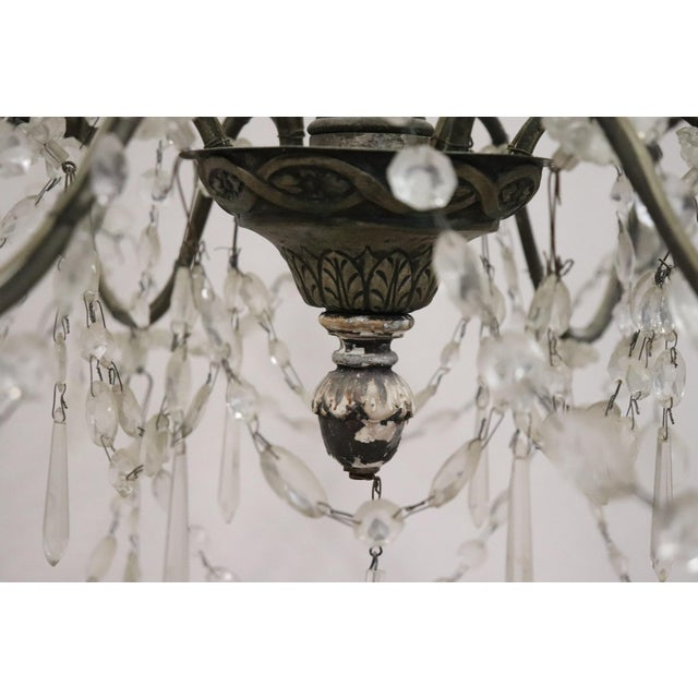 Copper 18th Century Italian Louis XVI Crystals Antique Chandelier For Sale - Image 7 of 12
