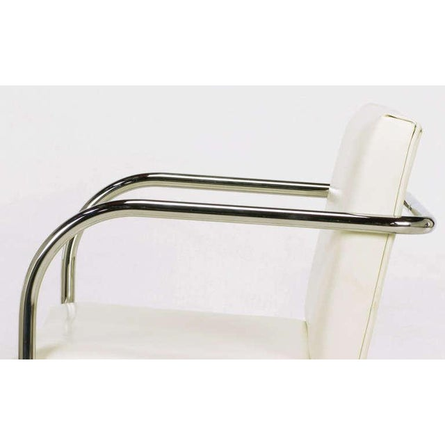 Four Thonet White & Chrome Cantilever Dining Chairs - Image 6 of 9