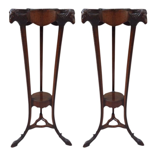 Pair of 18th Century Georgian Mahogany Pedestals For Sale