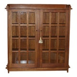 Image of Vintage Stickley Craftsman Cherry Bookcase For Sale