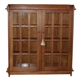Vintage Stickley Craftsman Cherry Bookcase For Sale