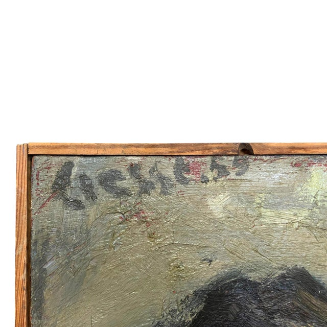 Portraiture 20th Century Small Self-Portrait Painting by Daniel Clesse For Sale - Image 3 of 5