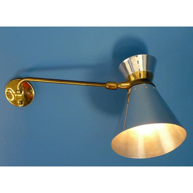 Pierre Guariche Style Adjustable Wall Sconces - A Pair - Image 6 of 9