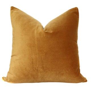 Contemporary Velvet Gold Pillow Cover For Sale
