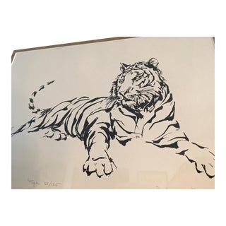 """Tiger"" Print by John Fulton For Sale"