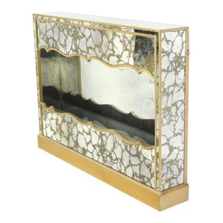 1970s Vintage Smoked Mirror Shadow Box With Light For Sale
